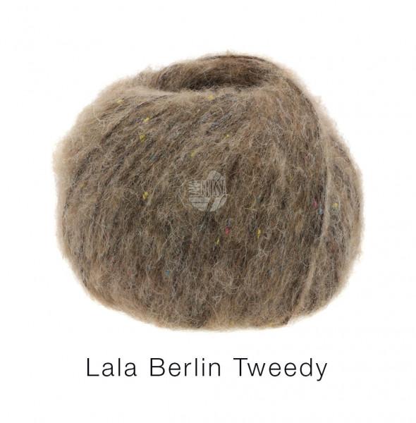 Lana Grossa lala Berlin Tweedy 004 Graubraun 50g
