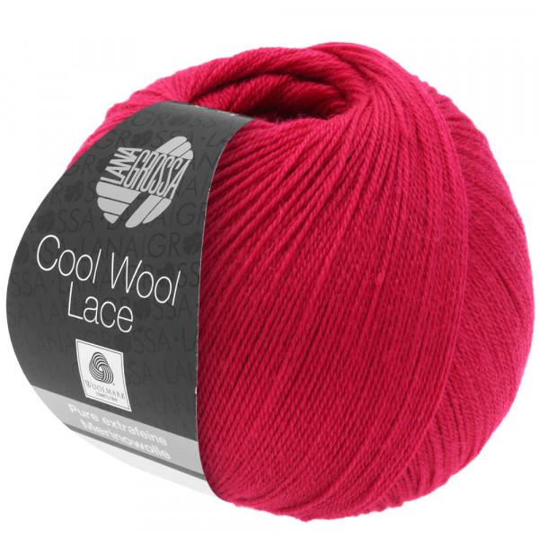 Lana Grossa Cool Wool Lace 019 Weinrot 50g