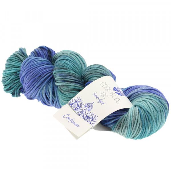 Lana Grossa Cool Wool Big hand-dyed 202 Marine/Royal/Himmel-/Graublau/Jeans/Mint 100g