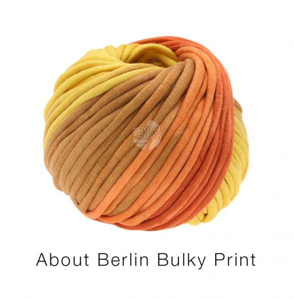 Lana Grossa About Berlin Bulky Print 101 Gelb/Orange/Goldbraun/Lachs 50g
