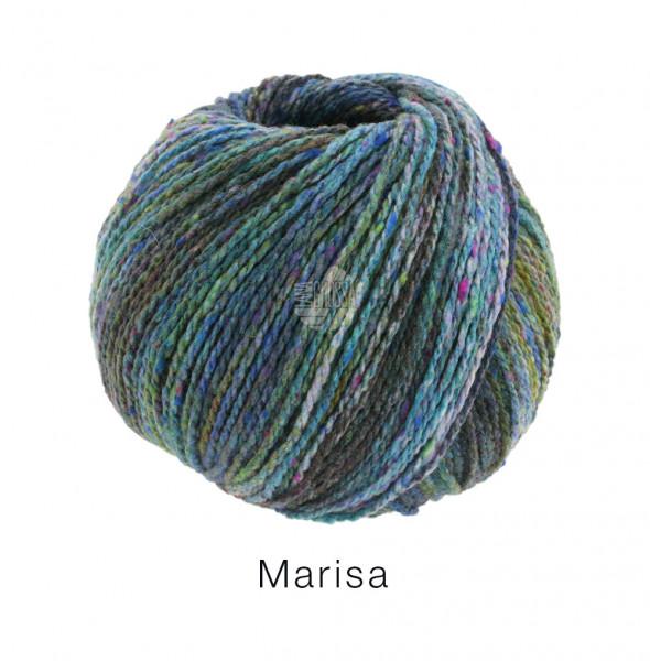 Lana Grossa Marisa 010 Dunkel-/Hellpetrol/Violett/Flieder/Oliv 50g