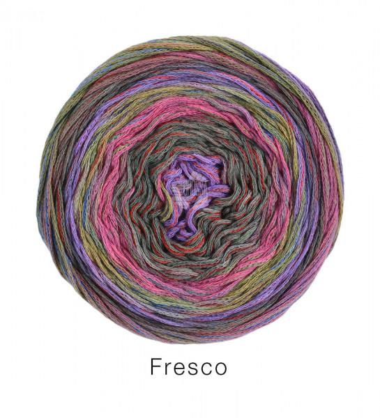 Lana Grossa Fresco 002 Flieder/Hellgrün/Rosa/Pink/Graubraun 100g