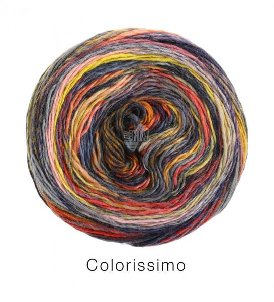Lana Grossa Colorissimo 008 Graulila/Lachsrosa/Flieder/Grau/Nachtblau/Himbeer/Hellgrau 100g