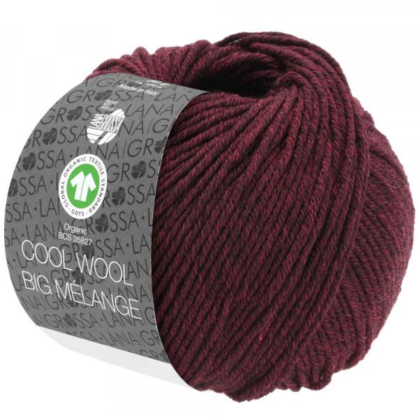 Lana Grossa Cool Wool Big Mélange GOTS 219 Schwarzrot Meliert 50g