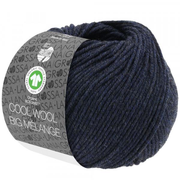 Lana Grossa Cool Wool Big Mélange GOTS 207 Nachtblau Meliert 50g