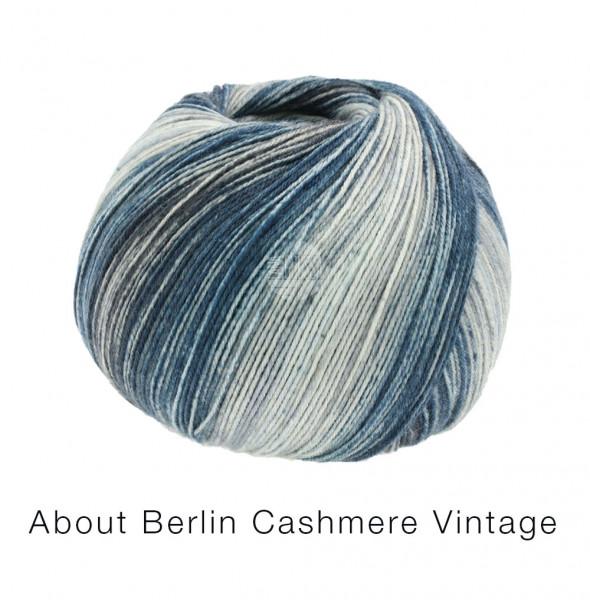 Lana Grossa About Berlin Meilenweit 100 Cashmere Vintage 825 Grau-/Petroltöne 100g