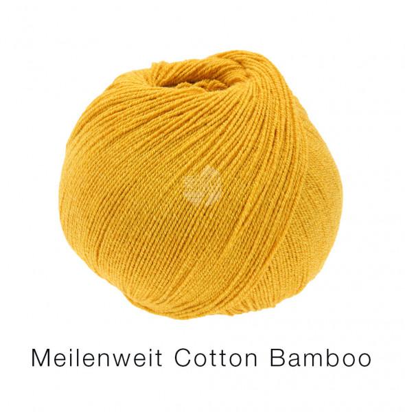 Lana Grossa Meilenweit 100 Cotton Bamboo Uni 003 Senfgelb 100g