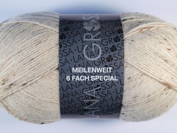 Lana Grossa Meilenweit 6-fach 150 Tweed - Natur