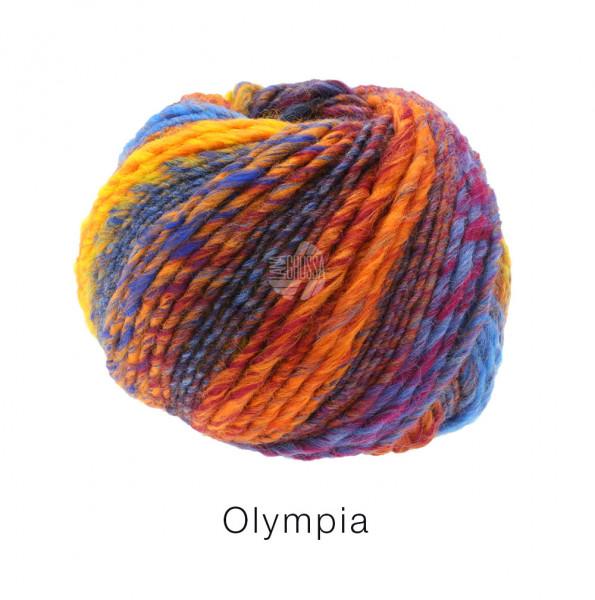 Lana Grossa OLYMPIA - Orange/Grau/Dunkelrot/Blau/Gelb