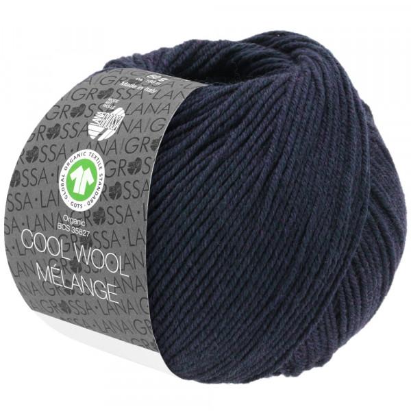 Lana Grossa Cool Wool 2000 Mélange GOTS 107 Nachtblau meliert 50g