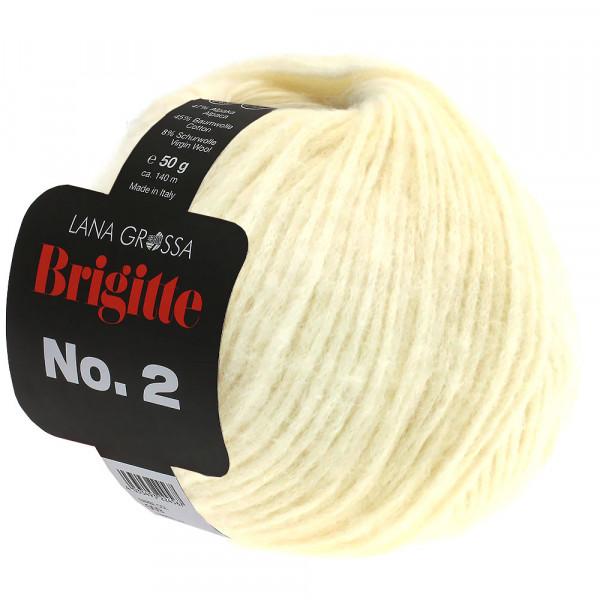 Lana Grossa Brigitte No.2 016 Wollweiß 50g