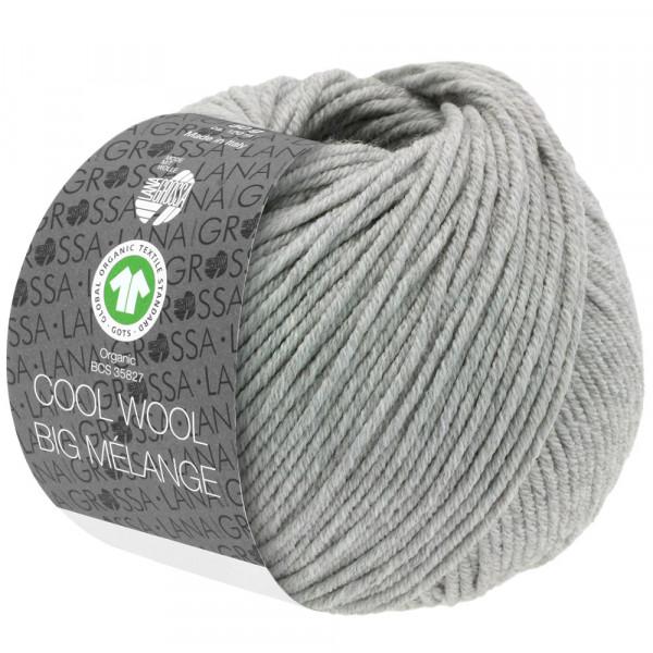Lana Grossa Cool Wool Big Mélange GOTS 222 Hellgrau Meliert 50g