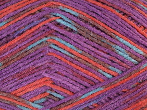 Lana Grossa Meilenweit 6-fach 150 Milano 9477 Violett/Rot/Braun/Petrol 150g
