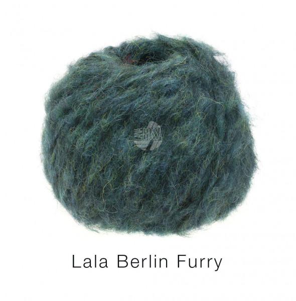Lana Grossa lala BERLIN FURRY 0009 Petrolgrün 50g