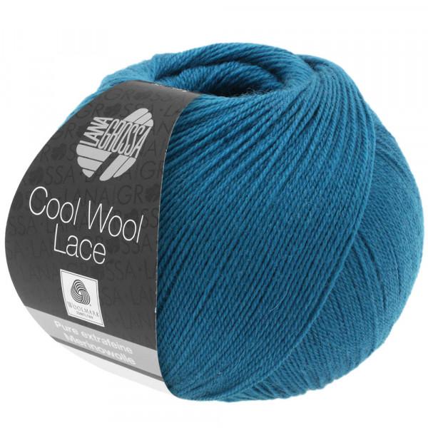 Lana Grossa Cool Wool Lace 004 Dunkelpetrol 50g