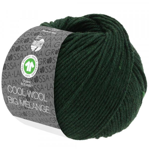 Lana Grossa Cool Wool Big Melange GOTS 206 Tannengrün Meliert 50g