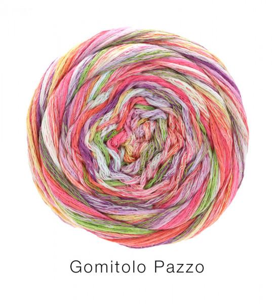 Lana Grossa Gomitolo Pazzo 816 Pink/Gelb/Weiß/Eisblau bunt 100g