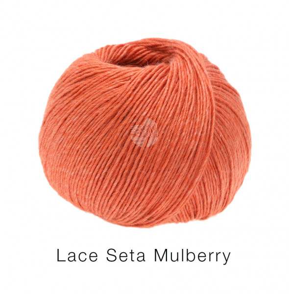 Lana Grossa Lace Seta Mulberry 008 Lachsrot 50g