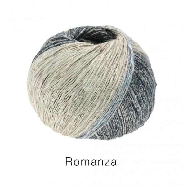 Lana Grossa Romanza 010 Leinen/Blaugrau/Graublau/Mittel-/Dunkelgrau/Anthrazit 50g
