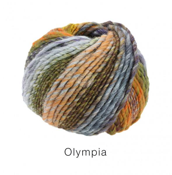 Lana Grossa Olympia - Dunkeloliv/Dunkel-/Hellgrau/Dunkel-/Mittel-/Hellgrün/Mint/Ockergelb