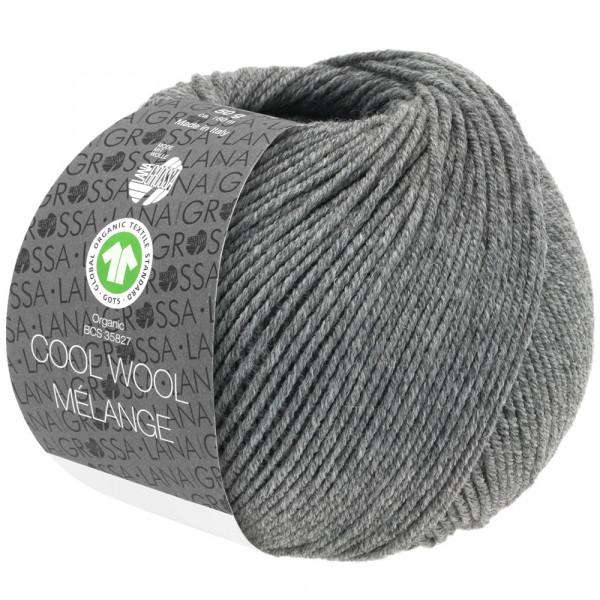 Lana Grossa Cool Wool 2000 Mélange GOTS 121 Dunkelgrau 50g