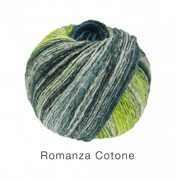 Lana Grossa Romanza Cotone 009 Pistazie/Petrol/Schwarzgrün/Natur 50g