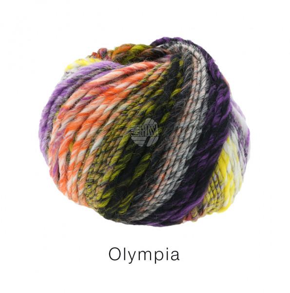 Lana Grossa OLYMPIA - Orange/Lila/Khaki/Gelb/Grau/Schwarz/Rohweiß