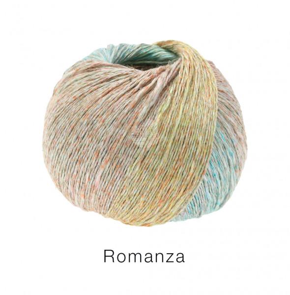 Lana Grossa Romanza 007 Pastellgelb/-orange/-rosa/-blau/Türkis/Zartgrün 50g