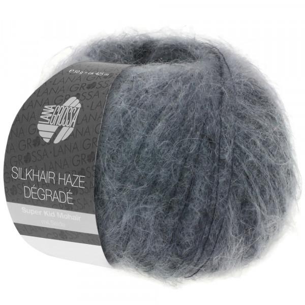 Lana Grossa Silkhair Haze Degrade 1108 Grau/Anthrazit 50g