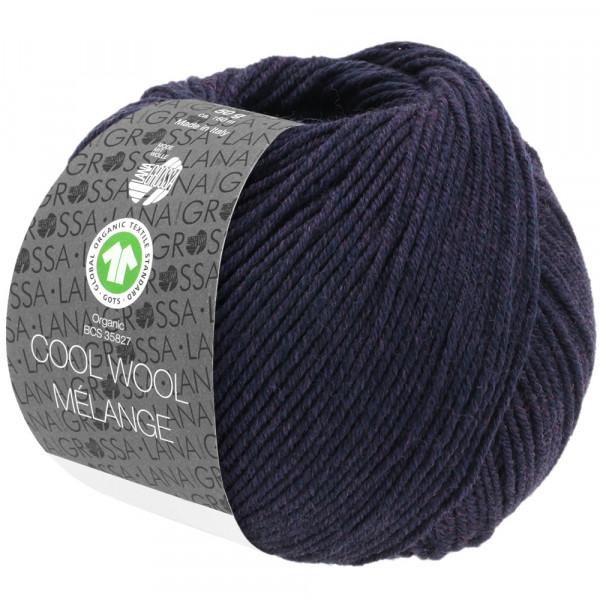 Lana Grossa Cool Wool 2000 Mélange GOTS 102 Aubergine meliert 50g