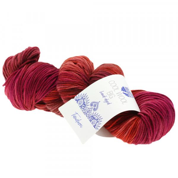 Lana Grossa Cool Wool Big hand-dyed 201 Rot/Terracotta/Pink/Zyklam/Schokobraun/Altrosa 100g