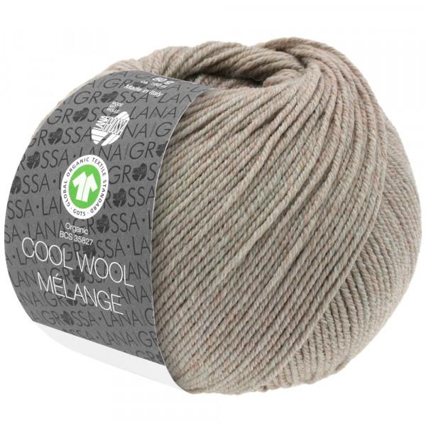 Lana Grossa Cool Wool 2000 Mélange GOTS 123 Beige meliert 50g