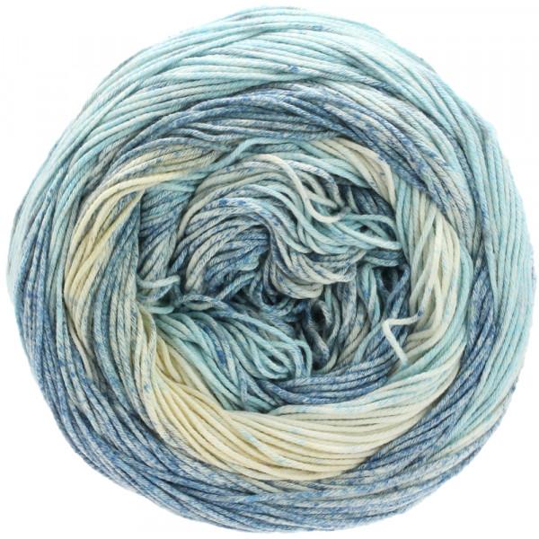 Lana Grossa Aruba 009 Eis-/Graublau/Ecru 100g