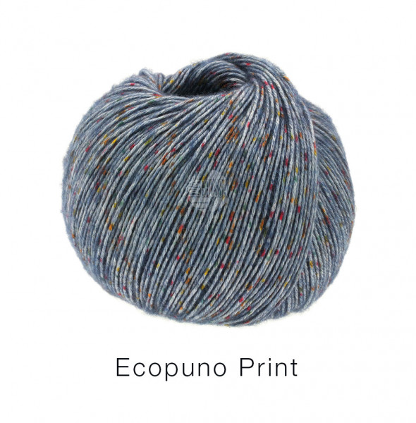 Lana Grossa Ecopuno Print 102 Jeans bunt 50g