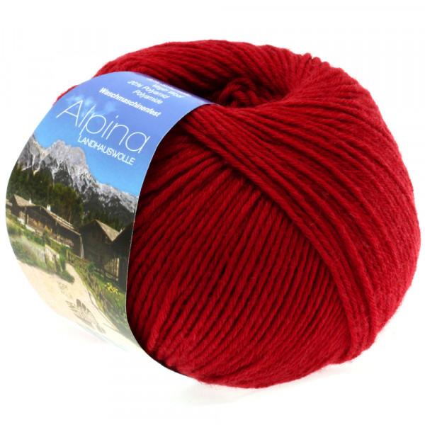 Lana Grossa Alpina Landhauswolle 015 Rot 100g