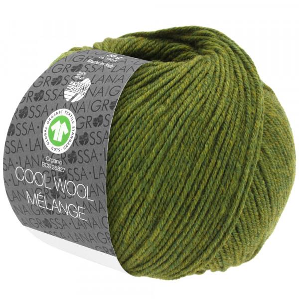 Lana Grossa Cool Wool 2000 Mélange Gots 113 Oliv Meliert 50g