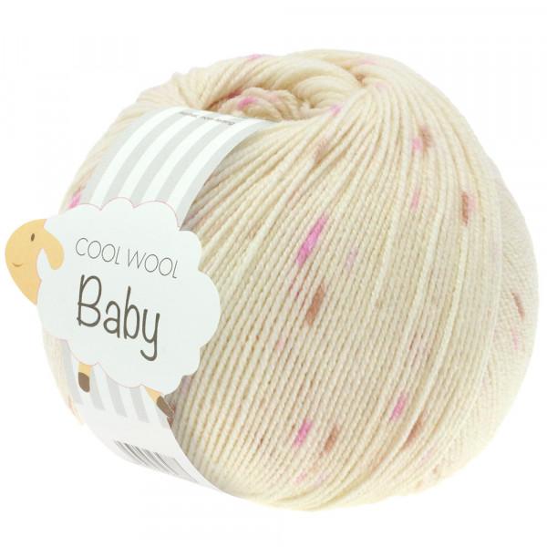 Lana Grossa Cool Wool Baby Print Punto 353 Rohweiß/Flieder/Rosa/Beige 50g