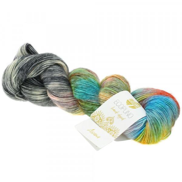 Lana Grossa Ecopuno hand-dyed 503 Türkis/Orange/Violett/Brombeer/Gelb/Petrol/Grau/Anthrazit 50g