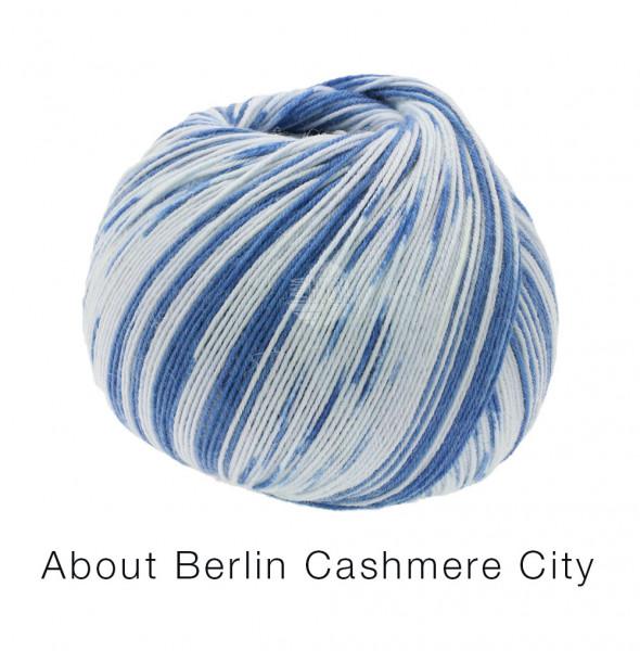 Lana Grossa About Berlin Meilenweit 100 Cashmere City 864 Royalblau/Hellblau 100g