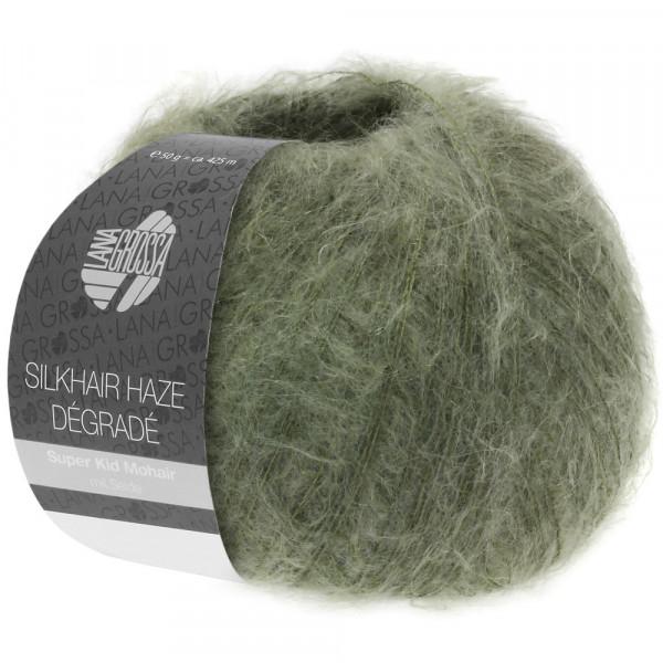 Lana Grossa Silkhair Haze Degrade 1107 Khaki/Dunkeloliv 50g