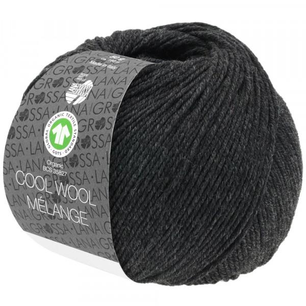Lana Grossa Cool Wool 2000 Mélange GOTS 120 Anthrazit Meliert 50g