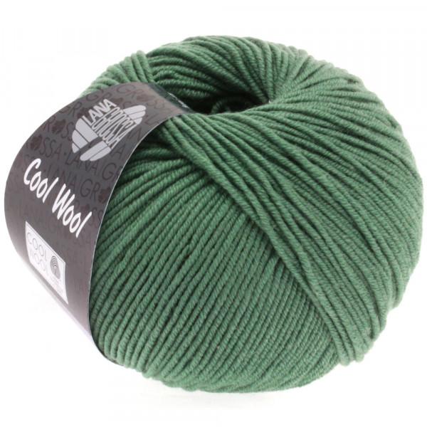 Lana Grossa Cool Wool 2000 2021 dunkles Graugrün 50g