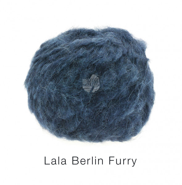 Lana Grossa lala BERLIN FURRY 0008 Schwarzblau 50g