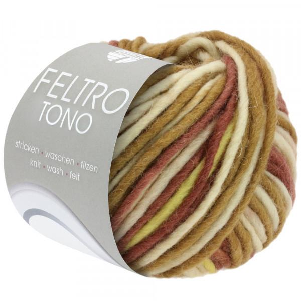 Lana Grossa Feltro Tono 1051 Graubeige/Khaki/Gelb/Braun/Altrosa 50g