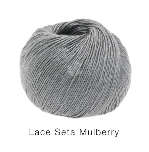 Lana Grossa Lace Seta Mulberry 014 Grau 50g