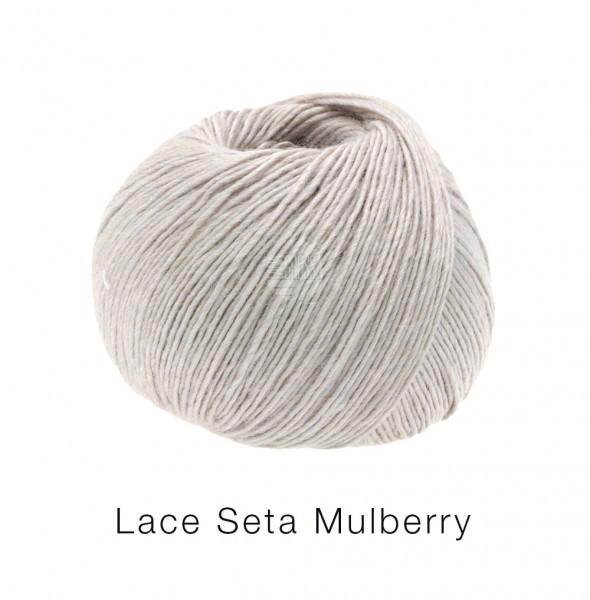 Lana Grossa Lace Seta Mulberry 002 Grége 50g