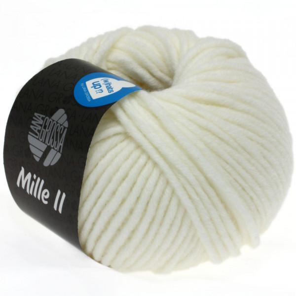 Lana Grossa Mille II 075 Weiß 50g