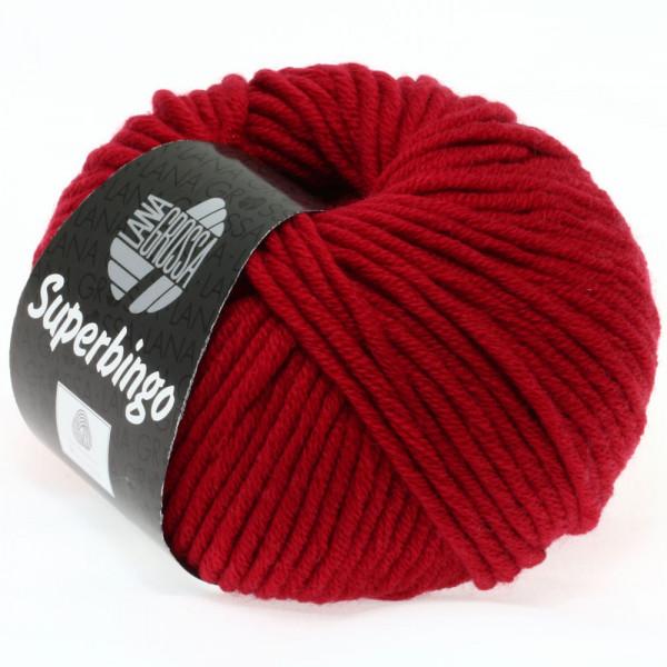 Lana Grossa Superbingo 006 Dunkelrot 50g