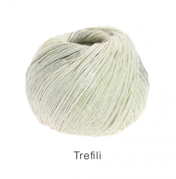 Lana Grossa Trefili 011 Creme/Hellgrau 50g