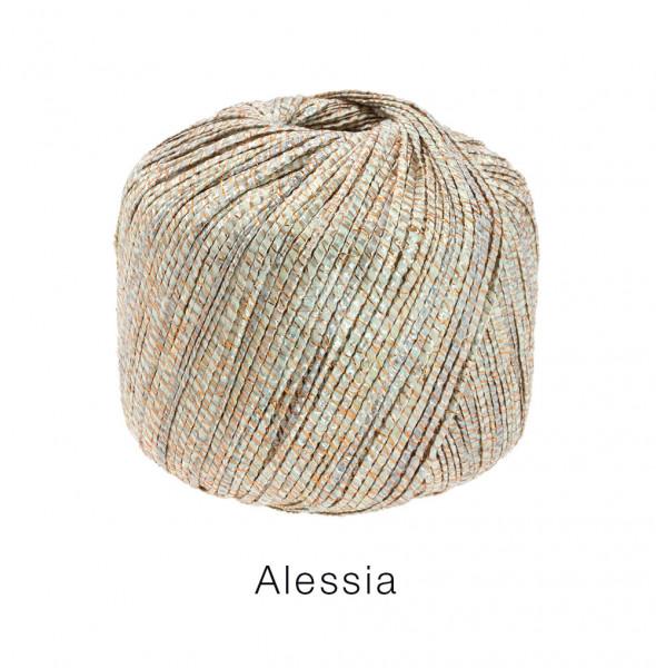 Lana Grossa Alessia 101 Silber/Gold/Kupfer/Grau 50g